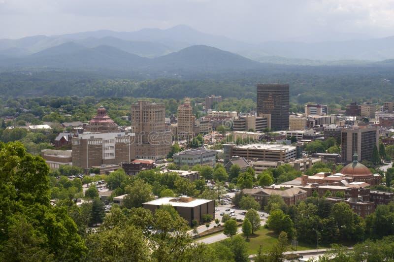 Skyline de Asheville North Carolina fotografia de stock