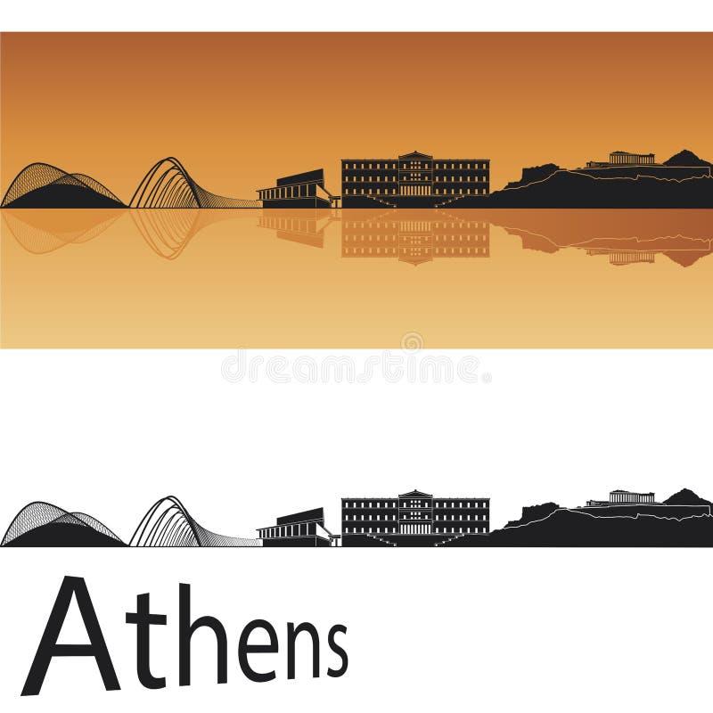 Skyline de Atenas ilustração do vetor
