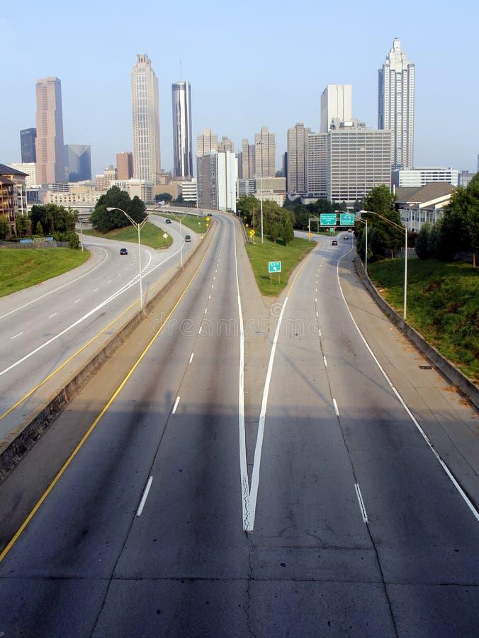 Skyline de Atlanta fotos de stock royalty free