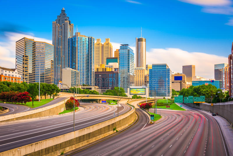 Skyline de Atlanta, Geórgia, EUA fotografia de stock