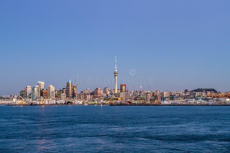 Skyline de Auckland CBD fotografia de stock royalty free