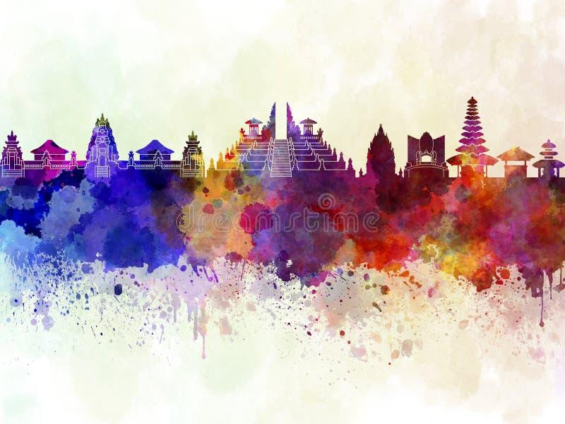 Skyline de Bali na WB ilustração stock