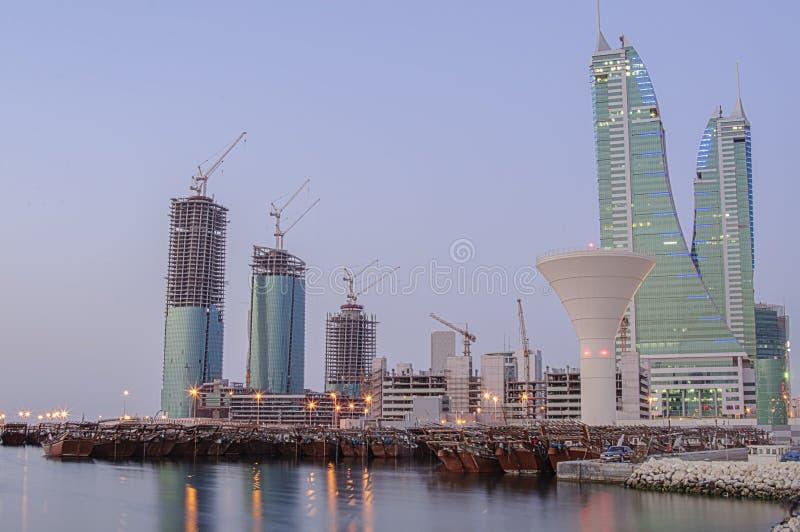 Skyline de Barém fotos de stock