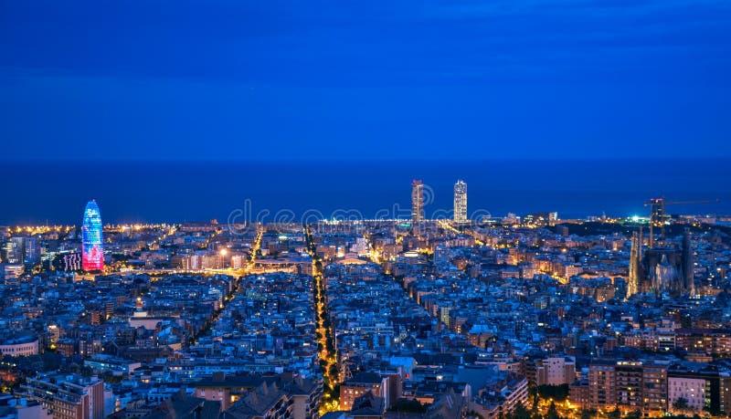 Skyline de Barcelona fotos de stock