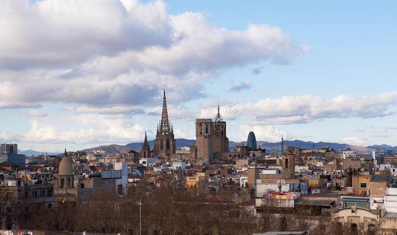Skyline de Barcelona foto de stock royalty free