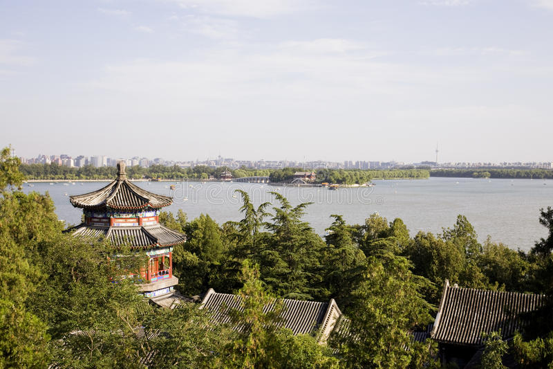 Skyline de Beijing fotografia de stock