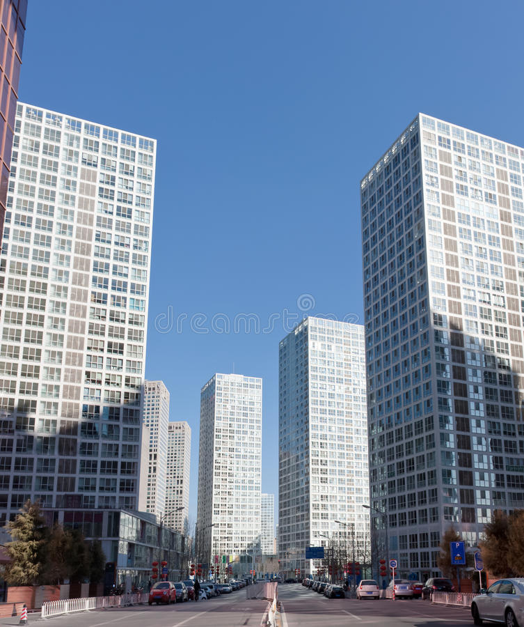 Skyline de Beijing CBD fotografia de stock