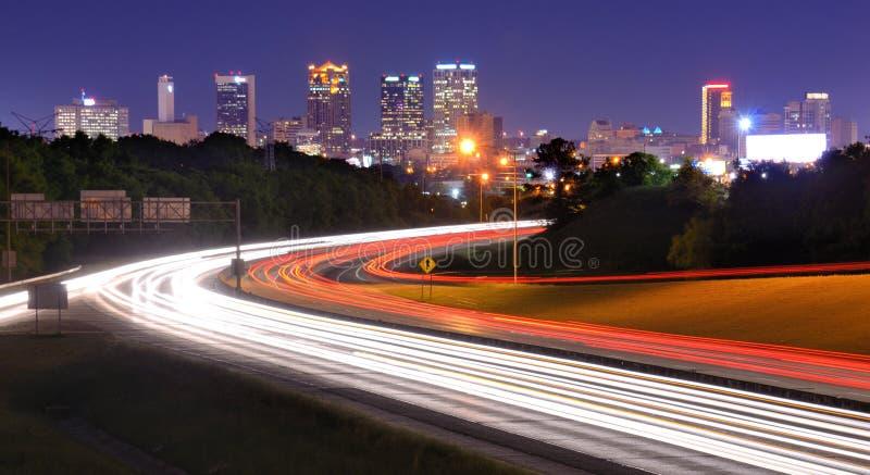 Skyline de Birmingham, Alabama fotografia de stock royalty free