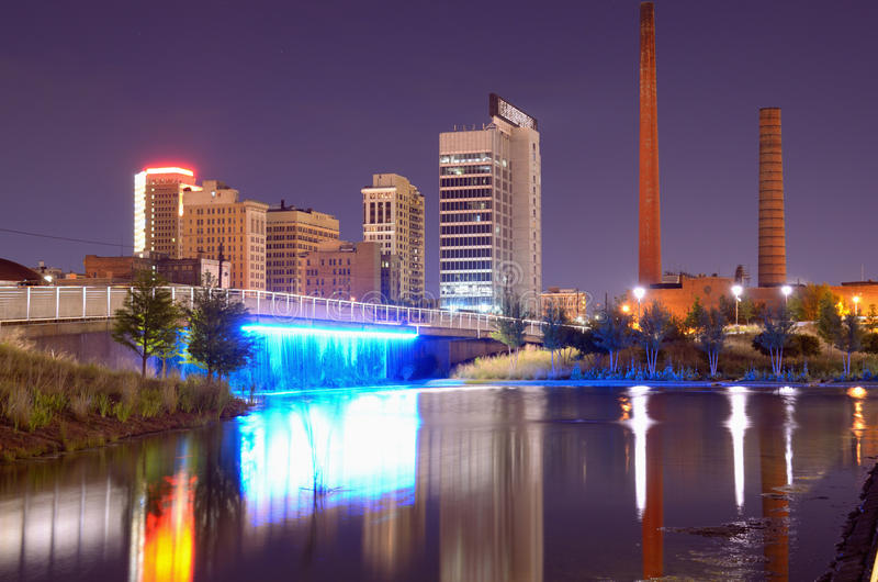 Skyline de Birmingham, Alabama imagem de stock royalty free
