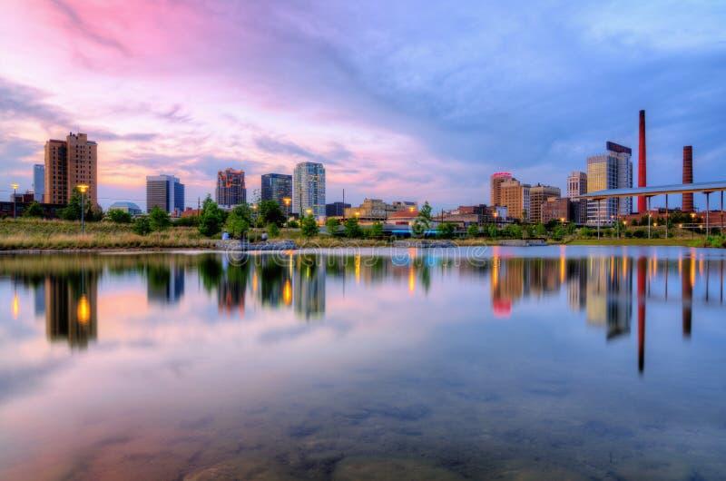 Skyline de Birmingham, Alabama fotografia de stock