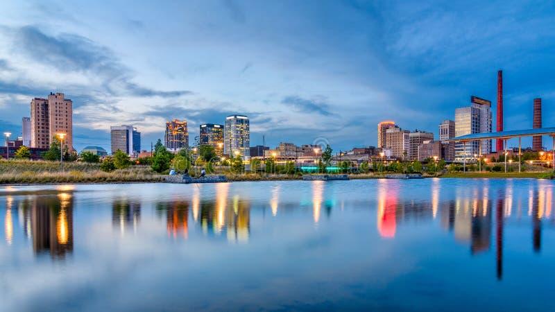 Skyline de Birmingham, Alabama, EUA imagem de stock