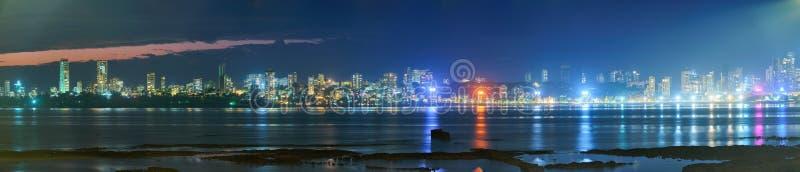 Skyline de Bombay por la noche fotografía de archivo libre de regalías