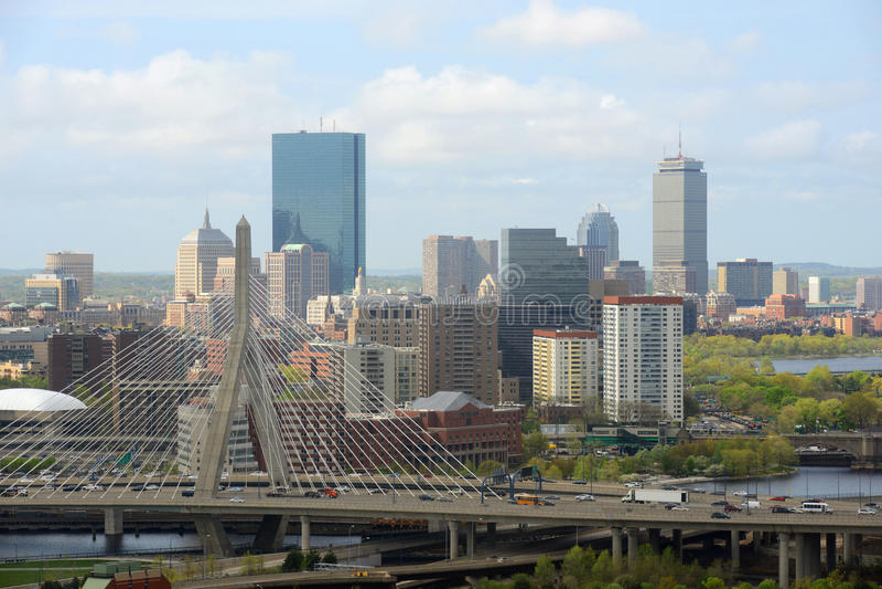 Skyline de Boston, Massachusetts, EUA fotografia de stock