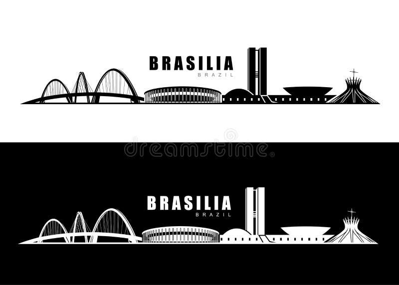 Skyline de Brasília ilustração stock