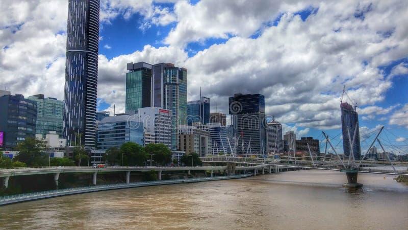 Skyline de Brisbane imagens de stock