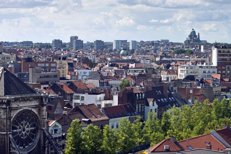 Skyline de Bruxelas foto de stock