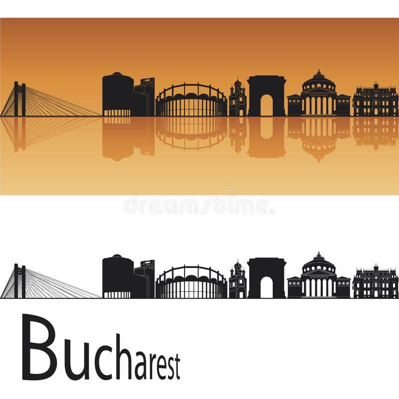 Skyline de Bucareste ilustração do vetor