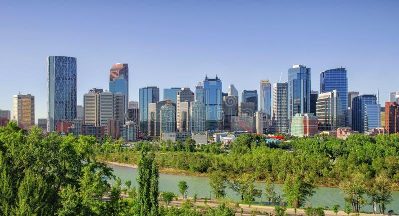 Skyline de Calgary fotografia de stock royalty free