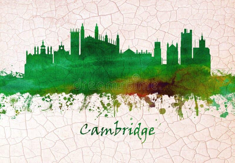 Skyline de Cambridge Inglaterra ilustração stock