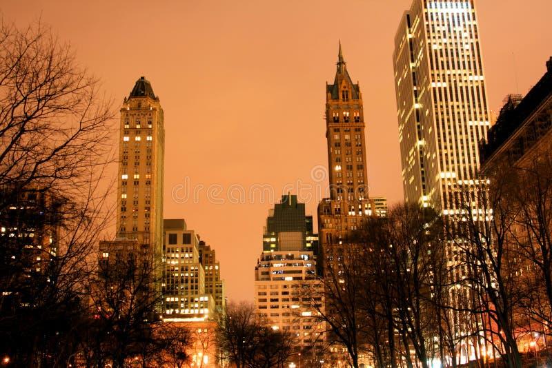 Skyline de Central Park e de manhattan, New York City imagens de stock