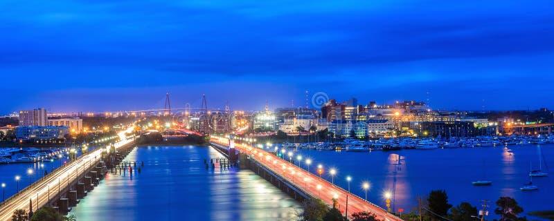 Skyline de Charleston fotos de stock royalty free