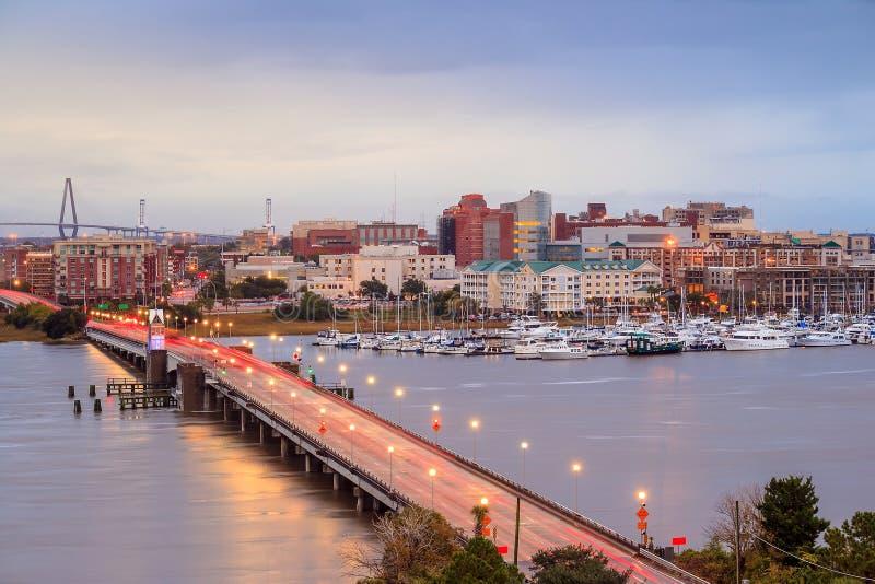Skyline de Charleston imagem de stock