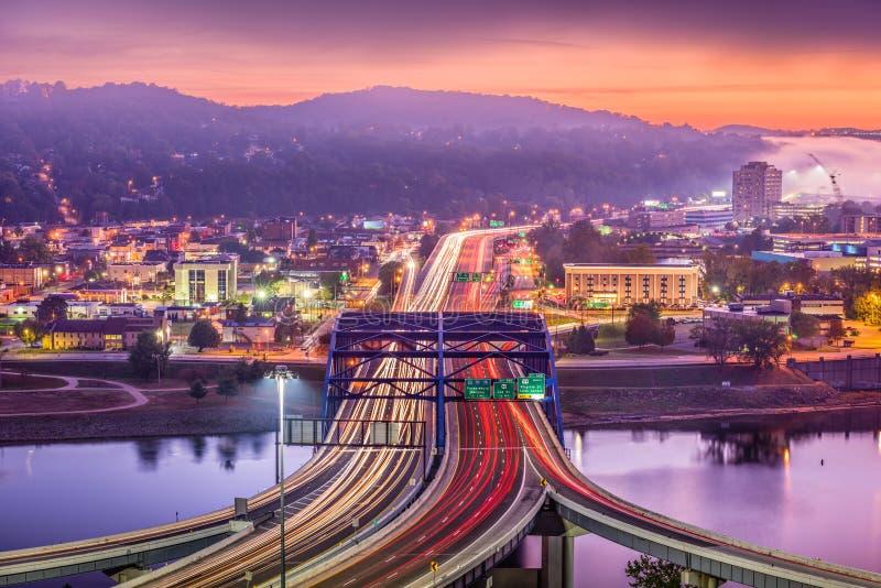 Skyline de Charleston, West Virginia, EUA imagens de stock royalty free