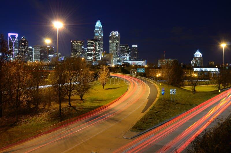 Skyline de Charlotte foto de stock royalty free