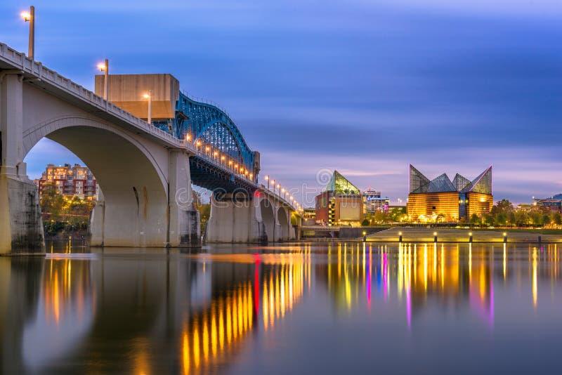Skyline de Chattanooga, Tennessee, EUA imagens de stock royalty free