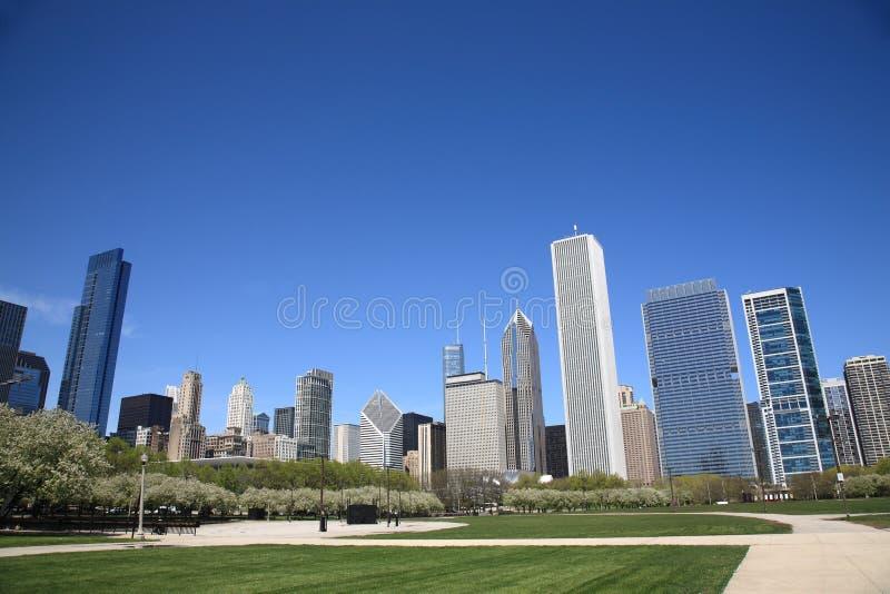 Skyline de Chicago foto de stock