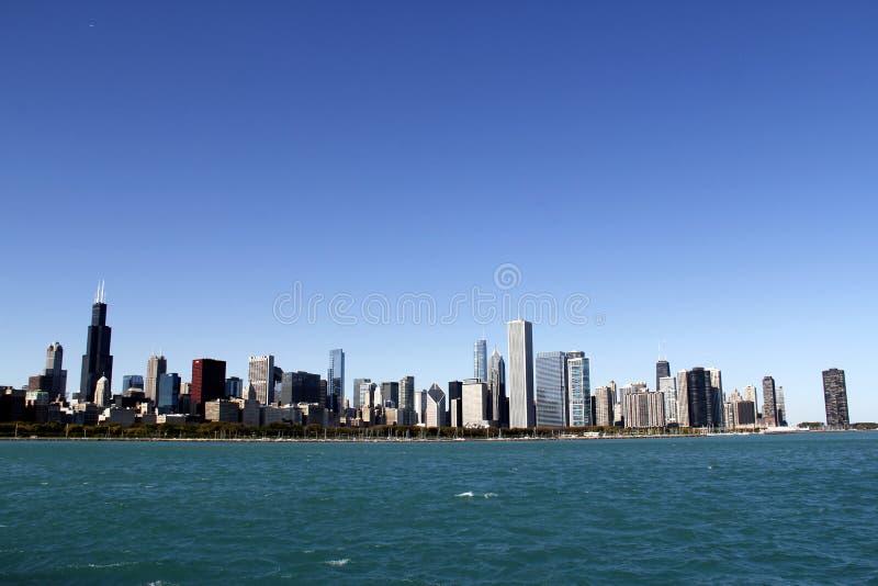 Skyline de Chicago imagens de stock