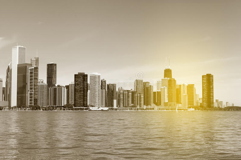Skyline de Chicago fotografia de stock royalty free