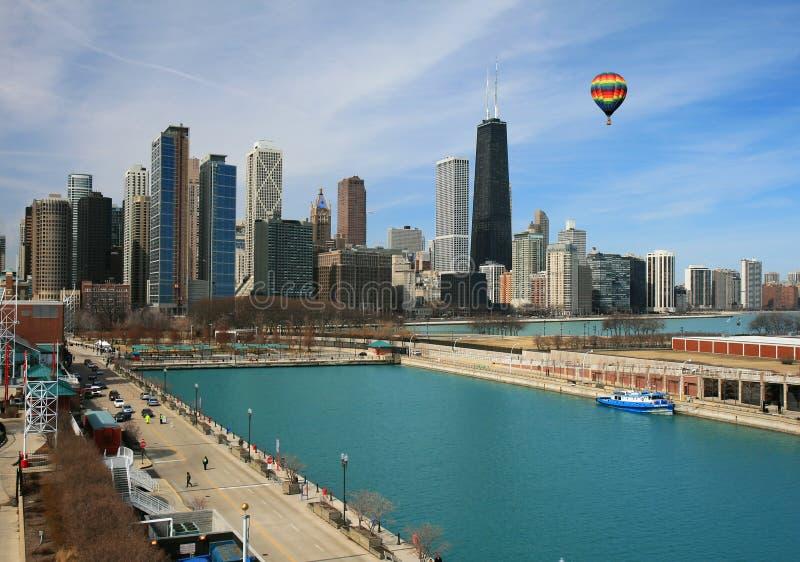 A skyline de Chicago fotos de stock
