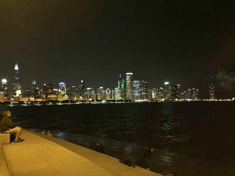 Skyline de Chicago fotos de stock royalty free