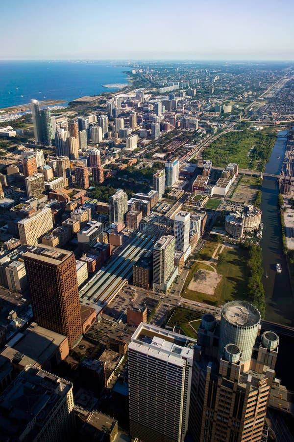 Skyline de Chicago no final da tarde foto de stock royalty free