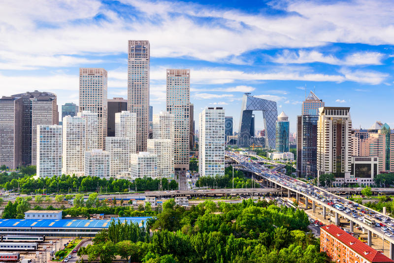 Skyline de China do Pequim fotografia de stock