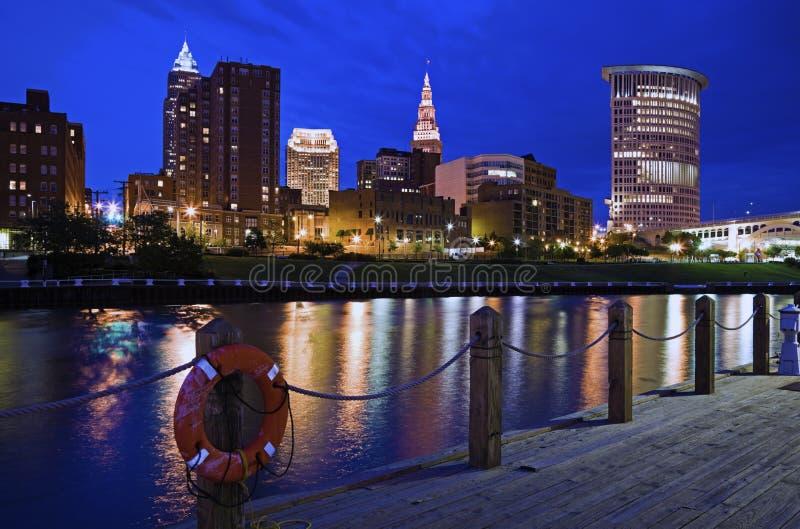 Skyline de Cleveland fotos de stock