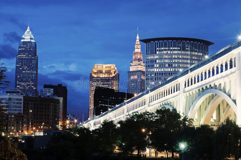 Skyline de Cleveland imagem de stock royalty free