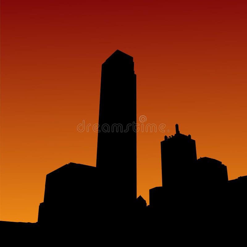 Download Skyline De Dallas No Por Do Sol Ilustração do Vetor - Ilustração de skyline, skyscraper: 10066892