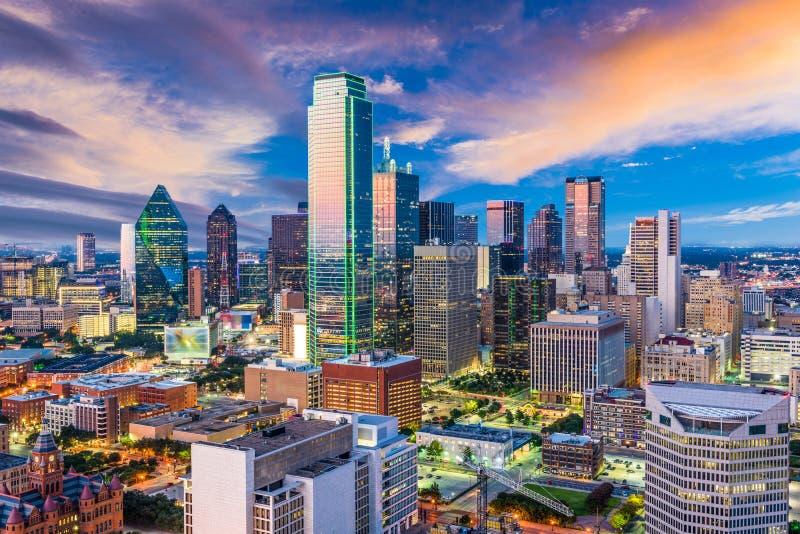 Skyline de Dallas Texas fotos de stock