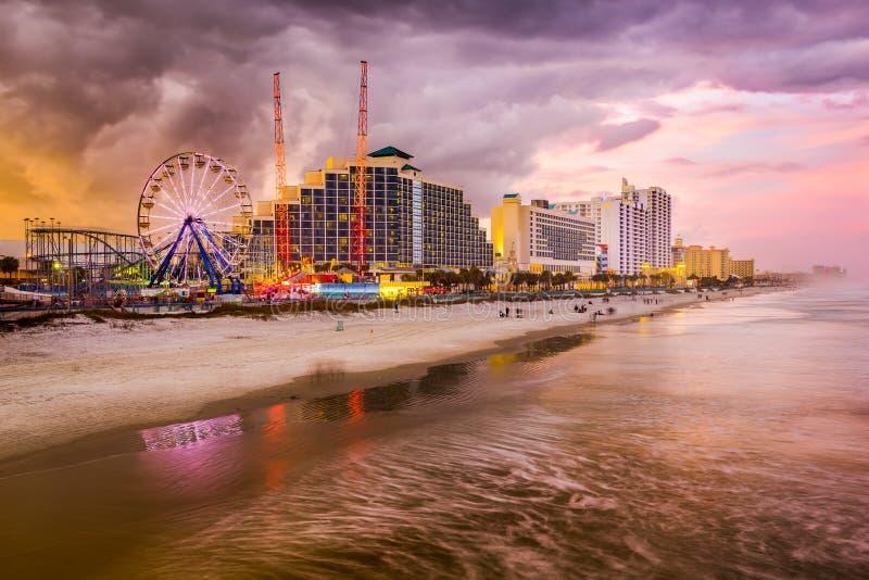 Skyline de Daytona Beach foto de stock royalty free