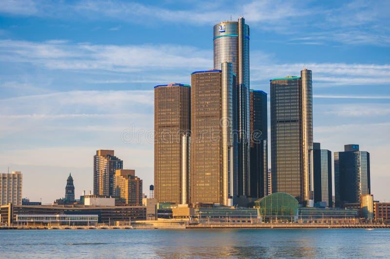 Skyline de Detroit foto de stock royalty free