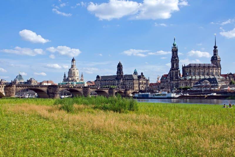 A skyline de Dresden imagem de stock