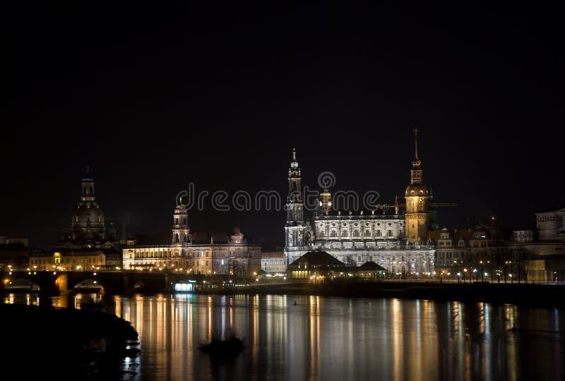 Skyline de Dresden fotografia de stock