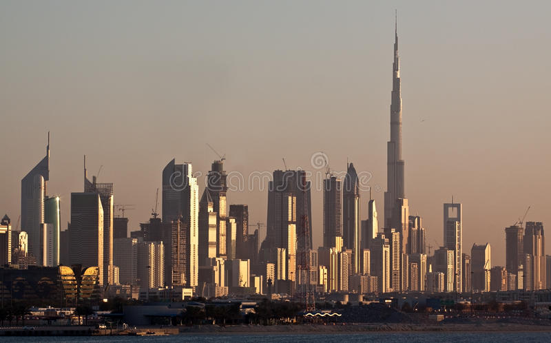 Skyline de Dubai foto de stock royalty free