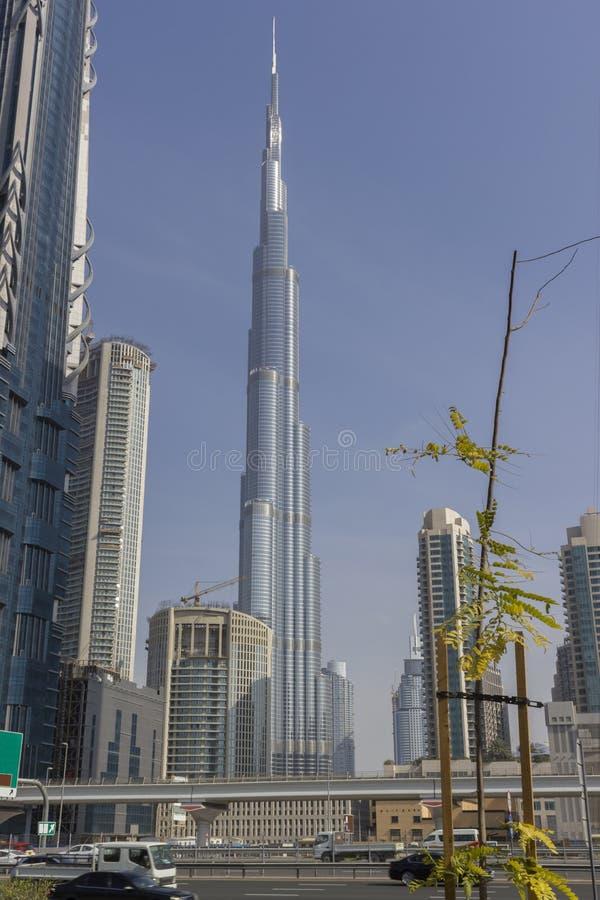 Skyline de Dubai com cidade bonita fotografia de stock royalty free