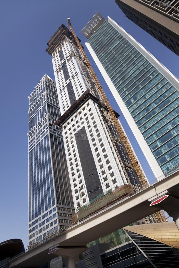 Skyline de Dubai, UAE fotografia de stock royalty free