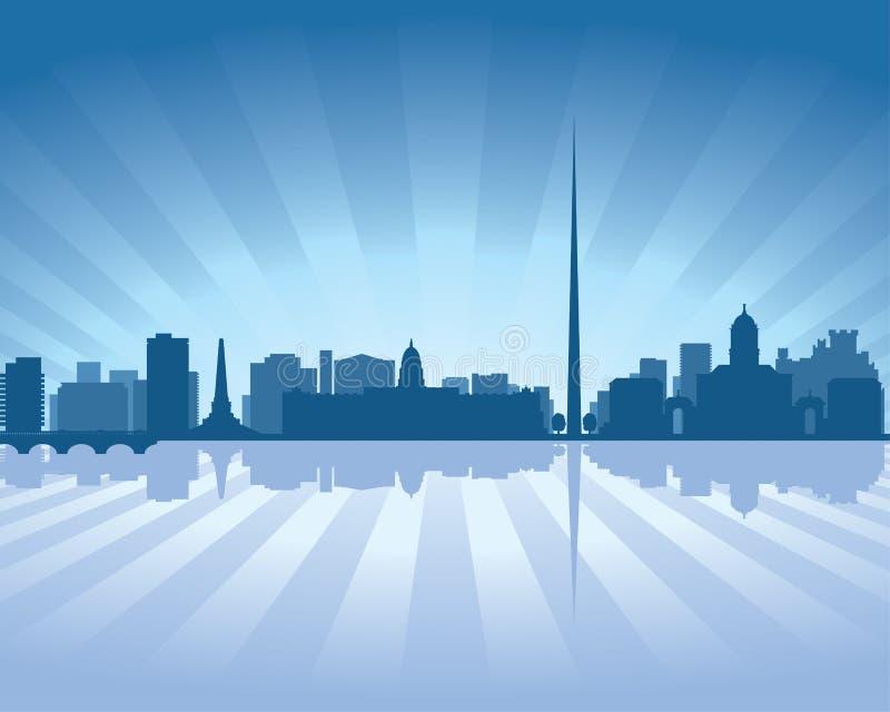 Skyline de Dublin, Ireland ilustração stock