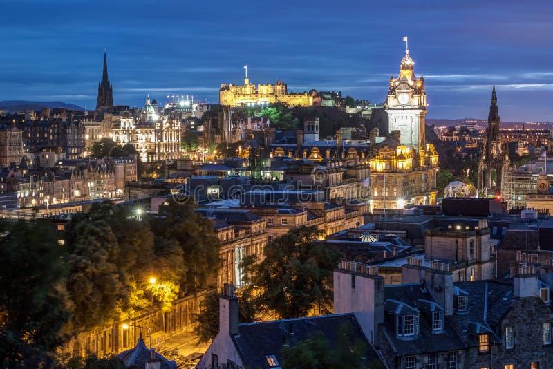 Skyline de Edimburgo fotos de stock