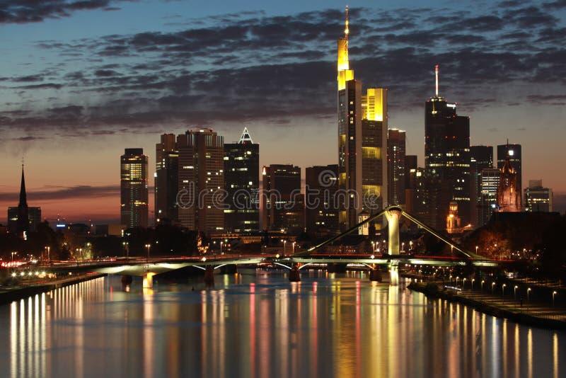 Skyline de Francoforte imagem de stock royalty free